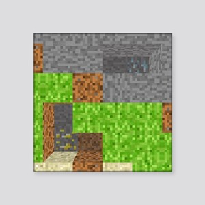 "Pixel Art Play Mat Square Sticker 3"" x 3"""