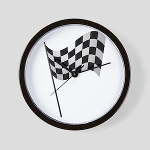 Racing Checkered Flag Wall Clock
