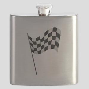 Racing Checkered Flag Flask