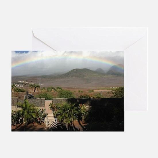 Rainbow Over Mountain Greeting Card