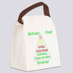 Bolivian Food Pyramid Canvas Lunch Bag