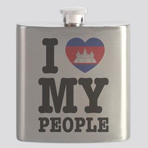 I Heart (Love) My Khmer People Flask