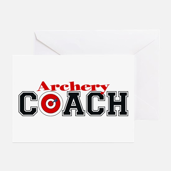 Archery Coach Greeting Cards (Pk of 10)
