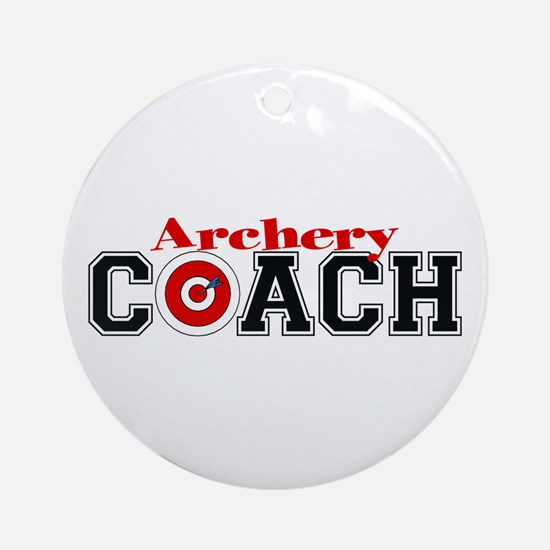 Archery Coach Ornament (Round)