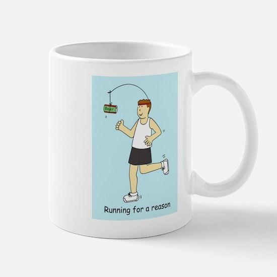 Running for beer. Mugs