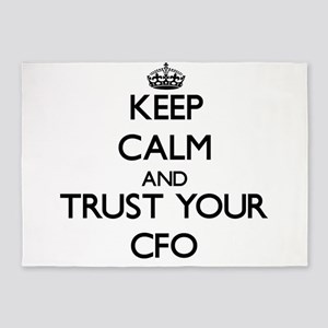 Keep Calm and Trust Your Cfo 5'x7'Area Rug