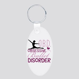 Ballet Obsessed Aluminum Oval Keychain