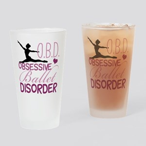 Ballet Obsessed Drinking Glass