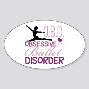 Ballet Obsessed Sticker (Oval)
