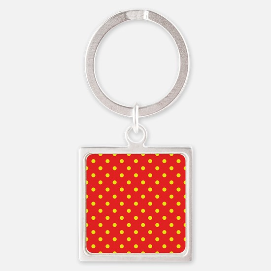 Red and Yellow Polka Dot Keychains