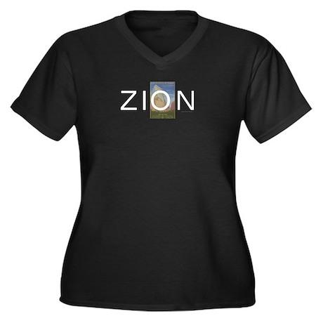 ABH Zion Women's Plus Size V-Neck Dark T-Shirt