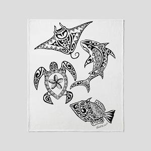 Hawaiian animals Throw Blanket