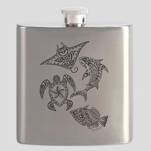 Hawaiian animals Flask
