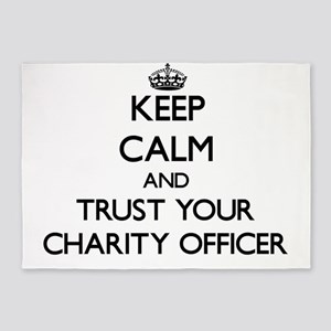 Keep Calm and Trust Your Charity Officer 5'x7'Area