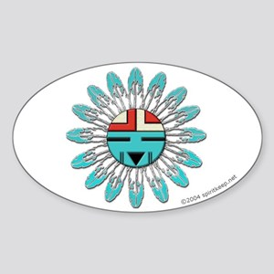 Hopi Sunface Oval Sticker