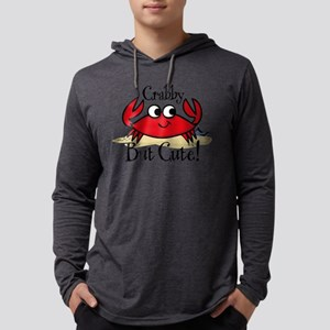 Cute Crabby Mens Hooded Shirt