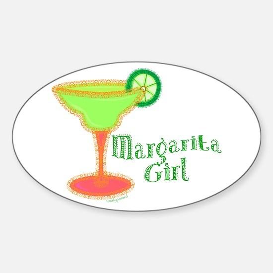 Margarita Girl Oval Decal