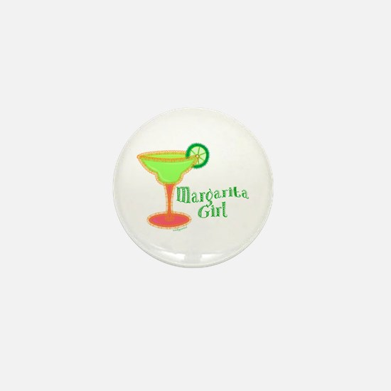 Margarita Girl Mini Button