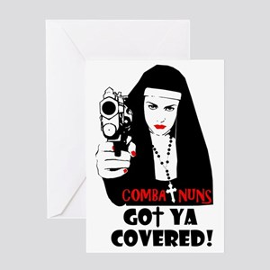 Nuns with guns greeting cards cafepress combat nuns got ya covered greeting card m4hsunfo