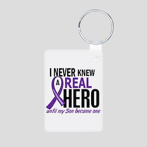 Cystic Fibrosis Real Hero Aluminum Photo Keychain