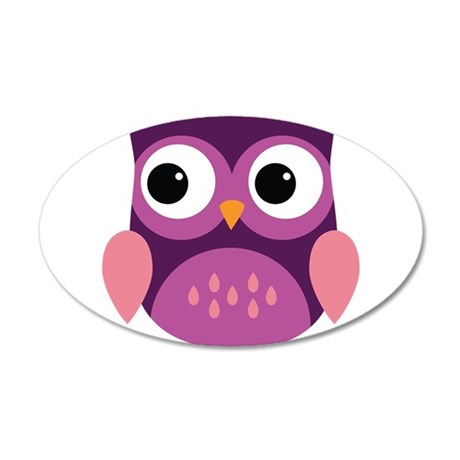 Purple Owl Wall Decal