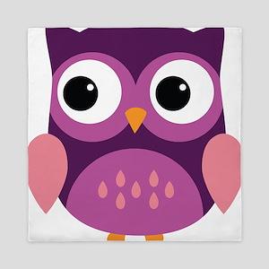 Purple Owl Queen Duvet