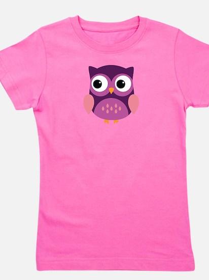 Purple Owl Girl's Tee