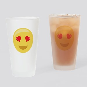 Love Face Emoticon Drinking Glass