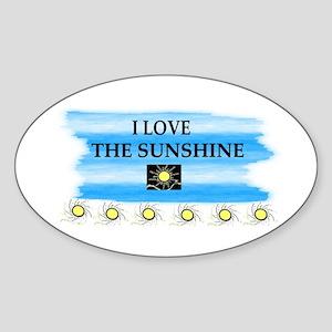 I LOVE THE SUNSHINE Oval Sticker