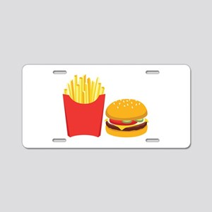 Fast Food French Fries Burger Aluminum License Pla
