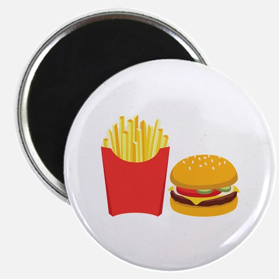 Fast Food French Fries Burger Magnets