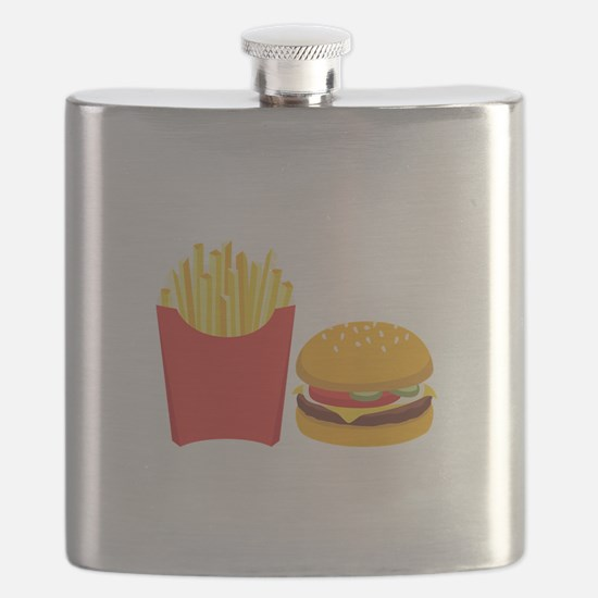 Fast Food French Fries Burger Flask