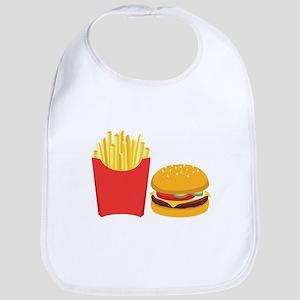 Fast Food French Fries Burger Bib