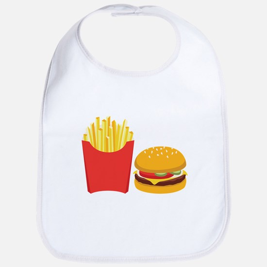 Fast Food French Fries Burger Bib