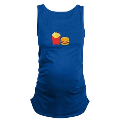 Fast Food French Fries Burger Maternity Tank Top