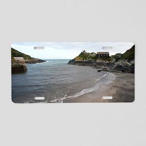 Polperro fishing village, C Aluminum License Plate