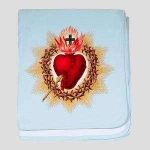 Sacred Heart baby blanket