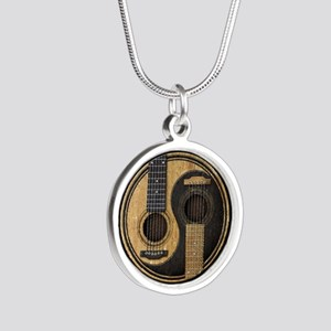 Old and Worn Acoustic Guitars Yin Yang Necklaces