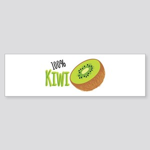 100 % Kiwi Bumper Sticker