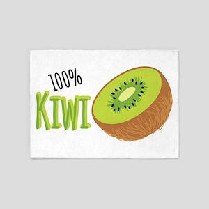 100 % Kiwi 5'x7'Area Rug