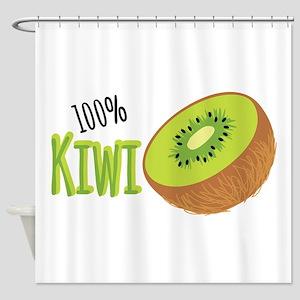 100 % Kiwi Shower Curtain