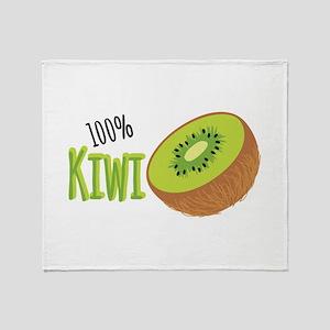 100 % Kiwi Throw Blanket
