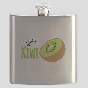 100 % Kiwi Flask