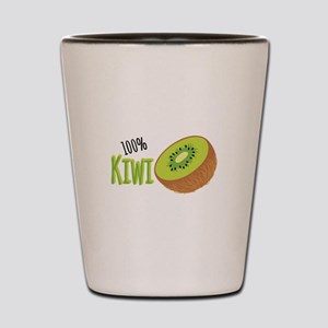 100 % Kiwi Shot Glass