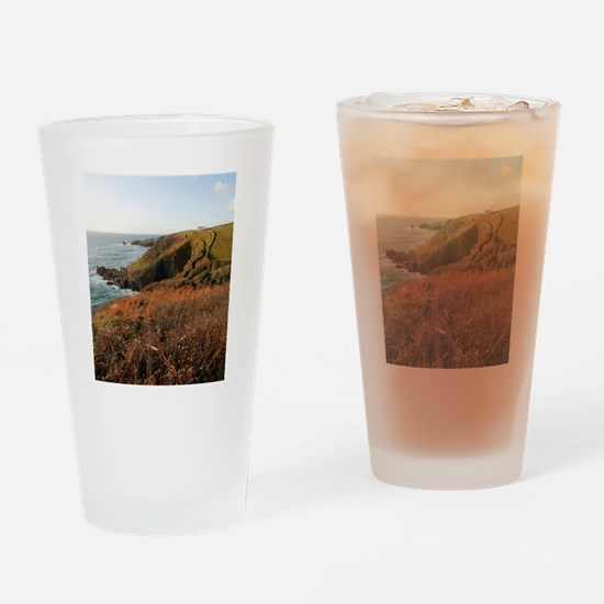 Lizard Point headland, Cornwall Drinking Glass