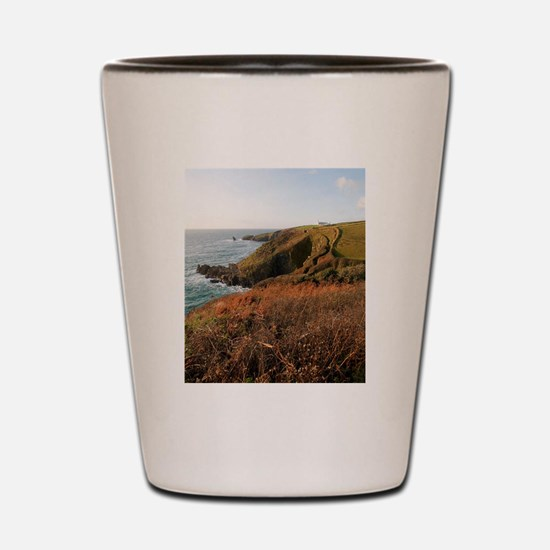Lizard Point headland, Cornwall Shot Glass