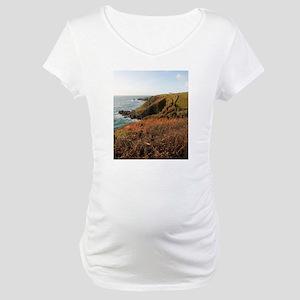 Lizard Point headland, Cornwall Maternity T-Shirt
