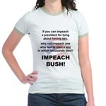 Impeach Bush Women's Ringer 2