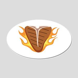 T-bone Steak Meat Grill Cook Flames Fire Wall Deca