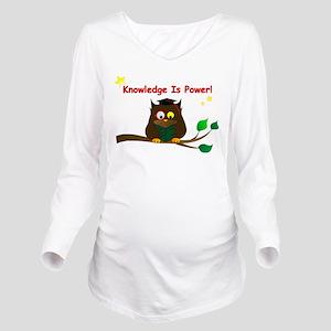 Wise Owl Long Sleeve Maternity T-Shirt